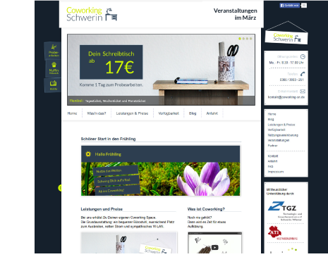 Websites stilvoll und kreativ